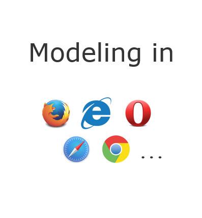 Automatic Generation of Web-Based Modeling Editors