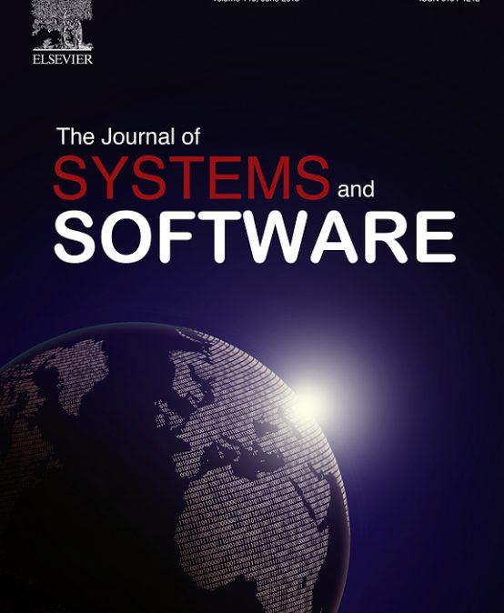 Acceptance of our paper in Journal of Systems and Software