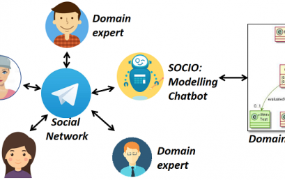 Collaborative modelling with chatbots in social networks