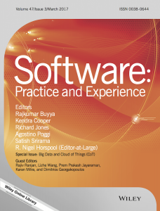 Acceptance of Ms. Atefeh Nirumand's paper in Software: Practice and Experience Journal