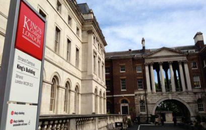 فرصت مطالعاتی تابستانه دکتر کلاهدوز رحیمی در دانشگاه کینگز کالج لندن