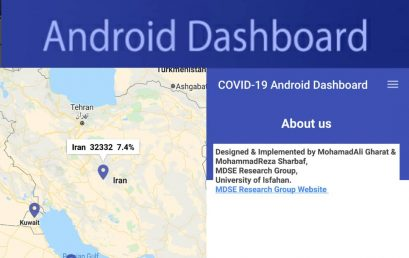 The COVID-19 Android Dashboard, generated by the ALBA framework