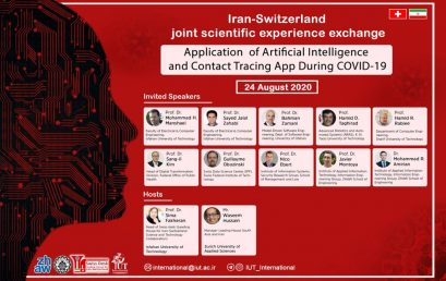 Dr. Zamani's talk at the Webinar on Application of Artificial Intelligence and Contact Tracing App During COVID-19
